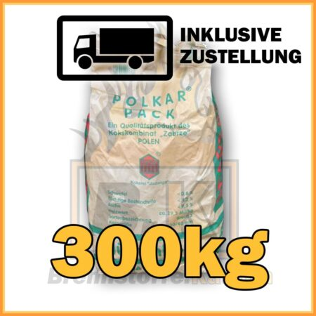 300kg Hüttenkoks Brech 3 (20 bis 40mm) 10kg Sack