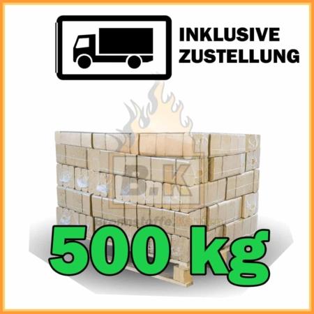 500 kg Buchenholzbriketts ziegelform RUF mit Lieferung - 50 Pakete á 10 kg
