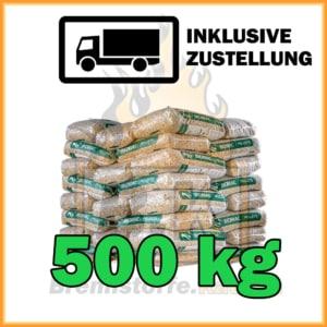 500 kg Holzpellets Sackware ENplus A1