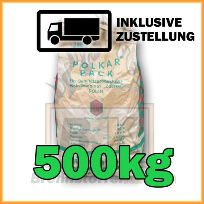 300kg Hütten500kg Hüttenkoks Brech 3 (20 bis 40mm) 10kg Sackkoks Brech 3 (20 bis 40mm) 10kg Sack