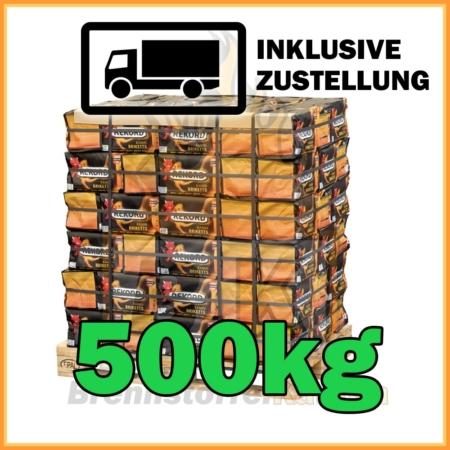 500kg Rekord Briketts 10kg Pakete