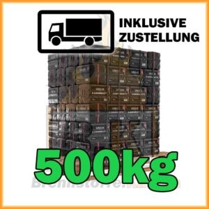 500kg Union Briketts in 10kg Paketen