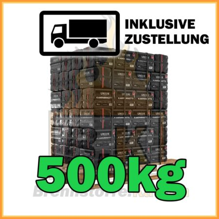 500kg Union Briketts 10kg Plastikpaket