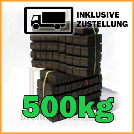 500kg Union Briketts Bündelbriketts 2 25kg Bündel