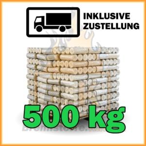 500 kg Weichholzbriketts mit Lieferung