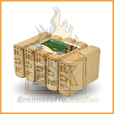 Holzbriketts eckig Buchenholz im 10 kg Paket - RUF in 10 kg