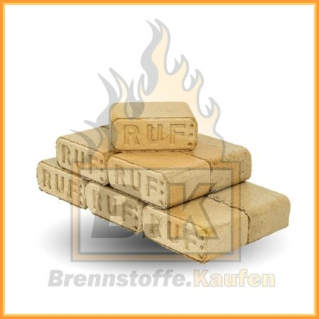 Holzbriketts eckig Buchenholz 10 kg Stapel RUF ziegelform