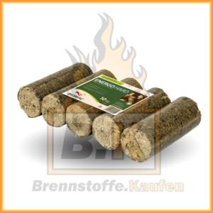 Holzbriketts dunkel ohne Loch - 10 kg Paket
