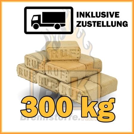 300 kg Holzbriketts eckig Buchenholz in 10 kg Plastikpaketen