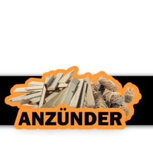 Anzünder Logo - Feuerwolle - Anzündholz