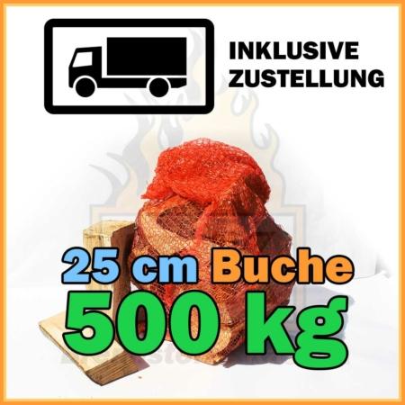 500 kg Kaminholz Buche 25 cm kaufen mit Lieferung