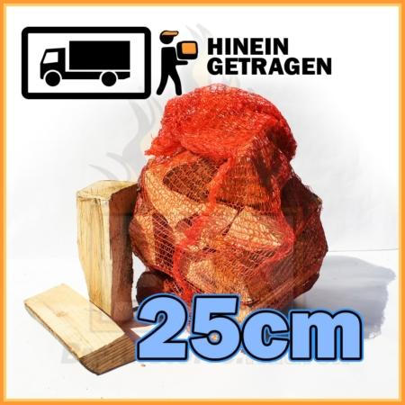 Buchenholz 25cm im Netzsack (ca. 13kg)