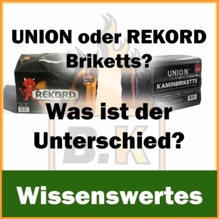Was ist der Unterschied zwischen Union und Rekord Kaminbriketts?