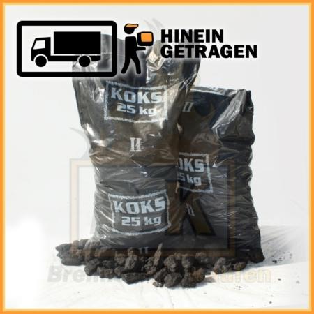 Hüttenkoks Brech 2 im 25 kg Plastiksack
