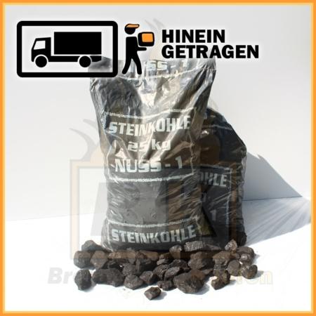 Steinkohle Nuss 1 im 25 kg Plastiksack