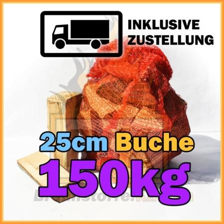 150 kg Brennholz 25 cm in Netzsäcken bei Brennstoffe Kaufen inklusive Lieferung und Zustellung
