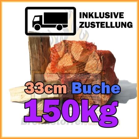 150 kg Brennholz 33 cm in Netzsäcken bei Brennstoffe Kaufen inklusive Lieferung und Zustellung