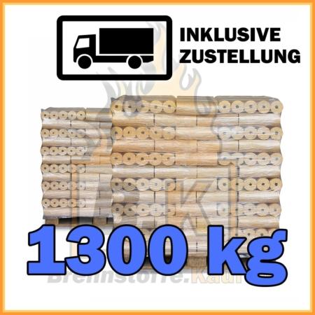 1300 kg Weichholzbriketts Premium Qualität in 10 kg Paketen
