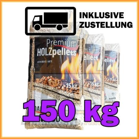 150 kg Holzpellets in 15 kg Plastiksäcken bei Brennstoffe Kaufen inklusive Lieferung und Zustellung