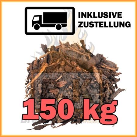 150 kg Rindenmulch im 50 L Sack / ~15 kg