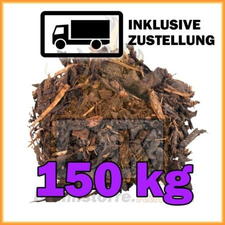 150 kg Rindenmulch grobe Körnung in 40 Liter Säcken