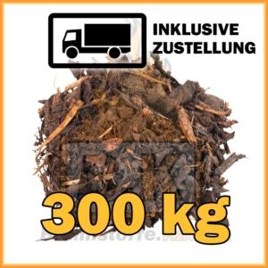 300 kg Rindenmulch grobe Körnung in 40 Liter Säcken