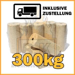 300 kg Weichholzbriketts Premium Qualität in 10 kg Paketen