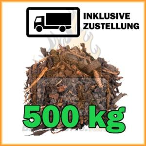 500 kg Rindenmulch grob
