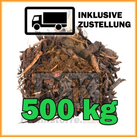 500 kg Rindenmulch grobe Körnung in 40 Liter Säcken