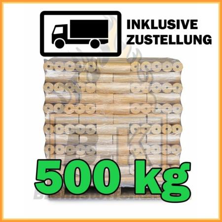 500 kg Weichholzbriketts Premium Qualität in 10 kg Paketen