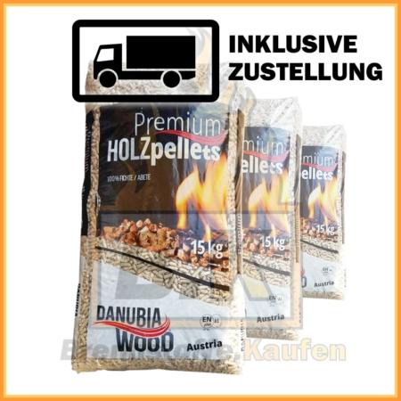 Danubia Woods Pellets 1 Sack 15 kg bei Brennstoffe Kaufen