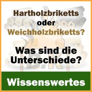 Hartholzbriketts oder Weichholzbriketts? Was sind die Unterschiede?