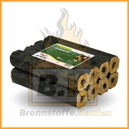 Holzbriketts Buche mit Loch - Pini & Kay - 10 kg Paket