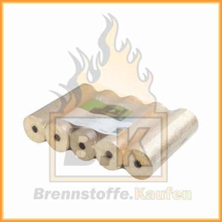 Weichholzbriketts mit Loch PREMIUM Qualität im 10 kg Paket