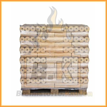 Weichholzbriketts Premium Mosser auf Palette in 10 kg Paketen