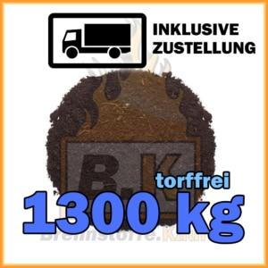 1300 kg torffreie Blumenerde in Säcken