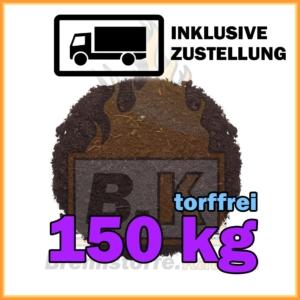150 kg torffreie Blumenerde in Säcken