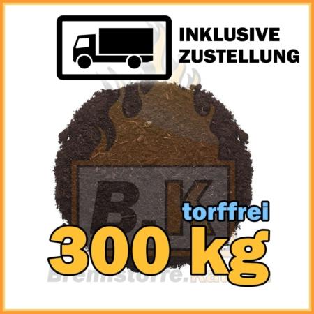 300 kg torffreie Blumenerde in Säcken