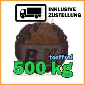 500 kg torffreie Blumenerde in Säcken