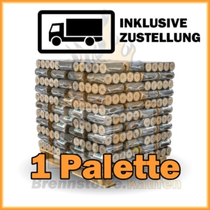 1 Palette Hartholzbriketts ohne Loch auf Palette mit Lieferung