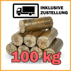 100 kg Holzbriketts dunkel - Hartholzbriketts kaufen mit Lieferung
