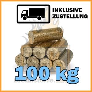 100 kg Hartholzbriketts ohne loch mit Lieferung