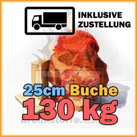 130 kg Brennholz 25 cm NETZSACK Abonnement