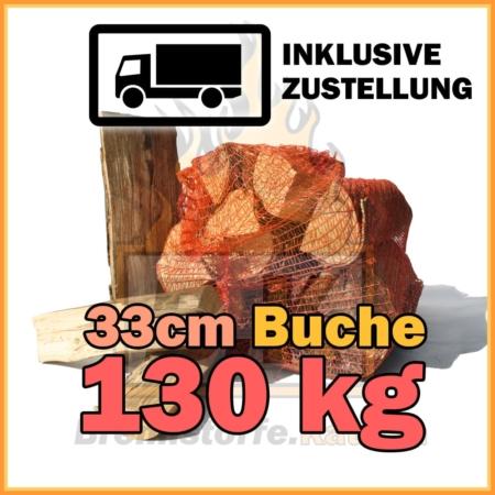 130 Brennholz 33 cm in Netzsäcke Abonnement