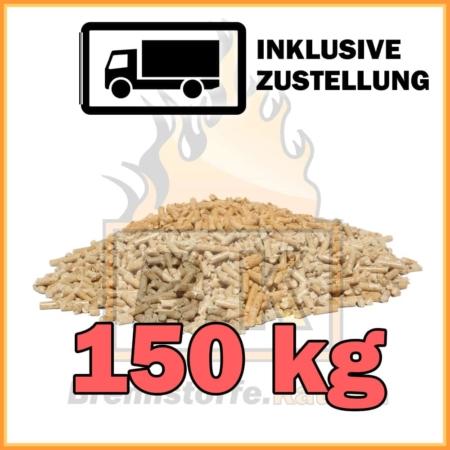 150 kg Holzpellets Sackware 15 kg mit Lieferung