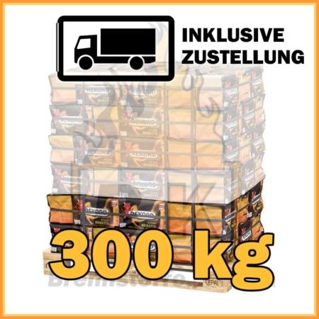 300 kg Rekord Briketts mit Lieferung