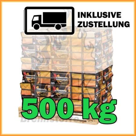 500 kg Rekord Briketts mit Lieferung