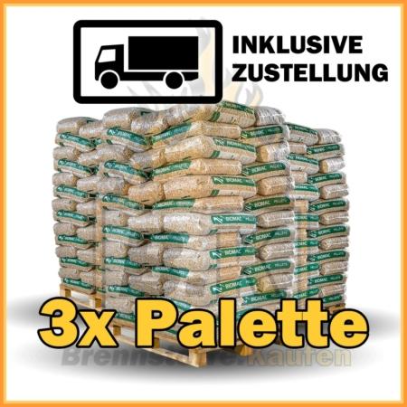 3 Paletten Holzpellets kaufen