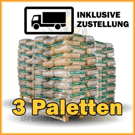 3 Paletten Holzpellets
