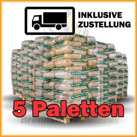 5 Paletten Holzpellets